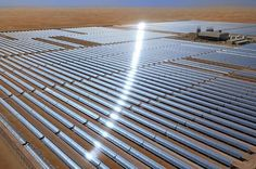 Links to Solar May Forge New Ties Across Mediterranean - The world's largest concentrated solar power plant opened in March in the middle of Abu Dhabi's western region, amid the country's giant oil fields.  The $600 million plant's hundreds of mirrors direct sunlight towards towers full of water. These are heated to drive steam turbines that provide enough electricity for thousands of homes.