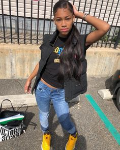 - Little black girl hairstyles Teenager Outfits, Girl Outfits, Cute Outfits, Fashion Outfits, School Outfits, Pretty Black Girls, Beautiful Black Girl, Black Girls Hairstyles, Baddie Hairstyles
