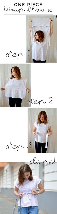 Wickelbluse DIY aus altem Hemd | at/least