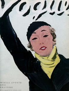 Vogue Cover #Vintage #Magazine #Fashion #Illustrations #Magazines #Cover #Covers #Vogue #1930's #30's #Thirties #December #1932