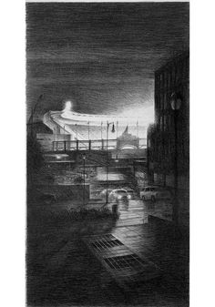 Bill Murphy - NIGHT GAME, THE BRONX 24″ x 13″ Lithograph on Paper