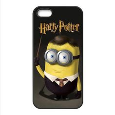 New Magician Harry Potter Custom Cute Funny Minion Despicable Me For iPhone 4 4S 5 5S 5C 6 6s 6PLUS 6s plus Case Cover