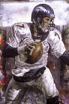 John Elway, Denver Broncos by Stephen Holland