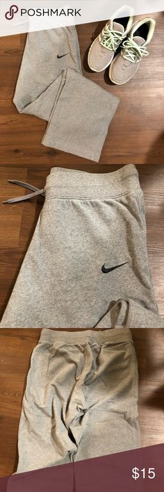 Size S Nike warm up sweats Nike warm up sweats. In great condition. 80% cotton, 20% polyester. Size S. • warm & comfy • loose fit • Elastic waistband with string tie  *Shop on Poshmark through Ibotta for 2.5% cash back, sign up with my code: fuvcwww Nike Pants Track Pants & Joggers