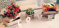 pallets para decoração de casamento