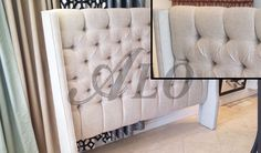 Awesome  video on how to build a upholstered tufted headboard with wings.