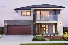Long Island Homes are multiple award winner New Home Builders in Melbourne. Choose Melbourne's best new house builders to design your dream home. Modern Exterior House Designs, Modern House Facades, Dream House Exterior, Modern House Design, Model House Plan, My House Plans, Home Building Design, Building A House, Simonds Homes