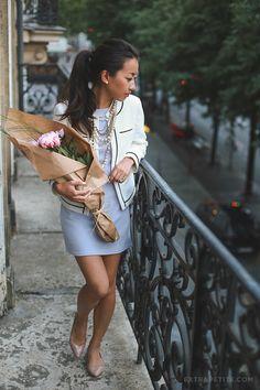 ExtraPetite.com - Remixed: ASOS petites shift dress   classic Chanel style jacket