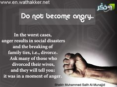Do not become angry..