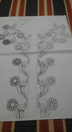 رشمات الطرز للقفطان والقندورة أجمل الموديلات الجديدة . للإستفادة Hand Embroidery Design Patterns, Kurti Embroidery Design, Basic Embroidery Stitches, Embroidery Flowers Pattern, Embroidery Applique, Beaded Embroidery, Machine Embroidery, Embroidery On Kurtis, Embroidery On Clothes