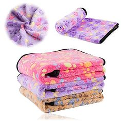 iNNEXT Puppy Blanket Pet Cushion Small Dog Cat Bed Soft Warm Sleep Mat Pet Dog Cat Puppy Kitten Soft Blanket Doggy Warm Bed Mat Paw Print Cushion -- See this great product.Note:It is affiliate link to Amazon.