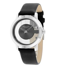 Look what I found on #zulily! Gray & Black Classic Leather Watch by Kenneth Cole New York #zulilyfinds