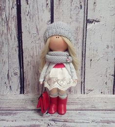 Be Happy with Lady doll Interior doll Tilda by AnnKirillartPlace