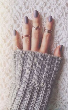 #fall #fashion / gray knit