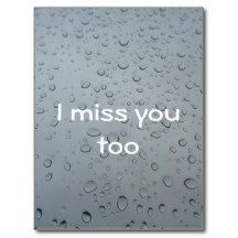 """ I miss you too "", Water Drops Window #Love Rain Background #Postcard #MostPopular"
