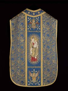 WATTS & CO. Today is the transferred feast of the Annunciation, here is a Comper designed and SSJB executed chasuble, using the fabric Comper Pear.