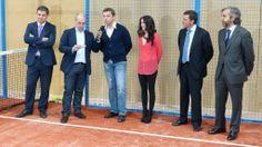 Fernando Moli, creador de #bquet, junto a los patrocinadores del evento y Raúl Valera