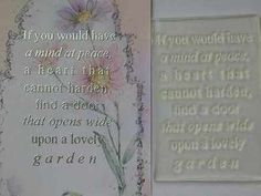 A lovely garden, verse stamp