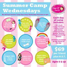Girls Inc. Empowerment Camp for Girls! Durham Region, Family Getaways, Summer Memories, Spa Services, Online Programs, Girls Camp, Spa Day, Physical Activities, Summer Fun