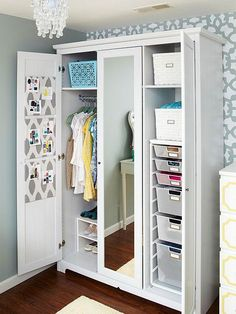 Wardrobe Armoires, Storage Solution For The Closet-less - Live Simply by Annie