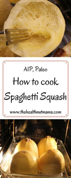 Easy step by step instructions on how to cook spaghetti squash. A delicious & healthy alternative to pasta. Perfect for Paleo, AIP & low carb dishes. Whole Food Recipes, Vegetarian Recipes, Healthy Recipes, Cooking Recipes, Tofu Recipes, Cooking Videos, Healthy Meals, Free Recipes, How To Cook Steak