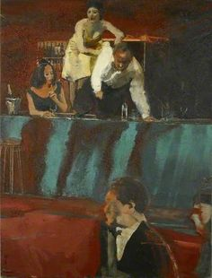 Study for All Night Long - Michael Andrews paintings