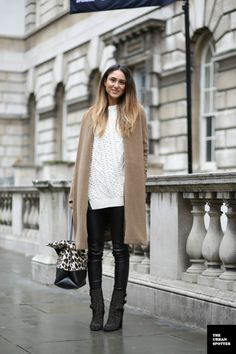 #SorayaBakhtiar going the camel topper in London. #LFW