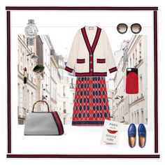 """""""Framing the gucci style"""" by malinandersson on Polyvore featuring Gucci, Rolex, William Cheshire, L'Oréal Paris and Kate Spade"""