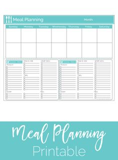 The best way to organize your meal planning and grocery shopping. Learn how to plan out two weeks of meals and groceries on one free printable.