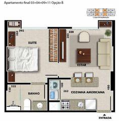 plantas de casas com 1 quarto - 9                                                                                                                                                     Mais
