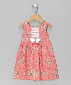 Take a look at this Pink Floral Smocked Dress - Infant & Toddler on zulily today!