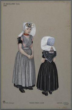 Zd. Beveland, Kath., ca. 1915. Meisjes onder 14 jaar.  Zomer, daags. Winter, zondag.