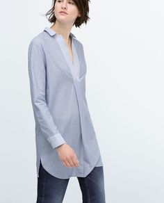 Image 3 of COMBINED STRIPE TUNIC from Zara