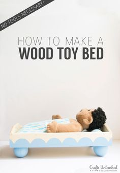 How To Make A Doll Bed - No Tools Needed!