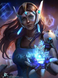 Symetra. Omg the little hologram Pikachu though~!