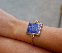 HOOKED STONE BRACELETS by Cleopatras Bling:: Lapis Lazuli