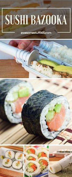 Now you can make homemade sushi  with this Sushi Bazooka Roller! Check it out ⬆