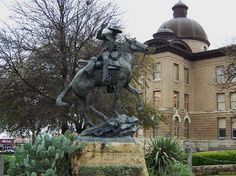 1909 Hays County Courthouse in Downtown San Marcos, Texas