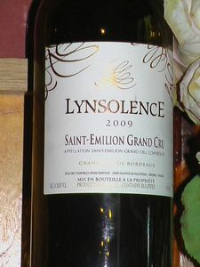 Lynsolence 2009 Bordeaux Wine.