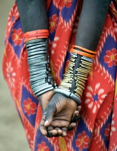 the stacked bracelets is to die for .. especially if it's handcrafted by the local ethnic tribe
