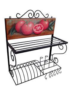 Paneleiro 60 em Madeira e Ferro - Cód 1394 Metal Furniture, Kitchen Furniture, Furniture Decor, Craft Iron, Window Grill Design, World Decor, Flower Stands, Iron Art, Iron Decor