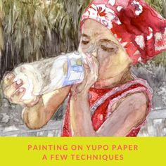 Yupo paper is a synthetic water-resistant paper. That means that when used with watercolor, your paint will dry only by evaporation.