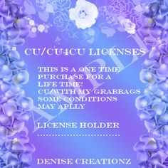 CU/CU4CU License [Denise Creationz] - $17.50 : , Exclusive Scrapping Divas