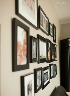 This is our Bliss in-home shoot - formal living room gallery wall - thisisourbliss.com