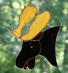 Stained Glass Moose by theglassmenagerie on Etsy