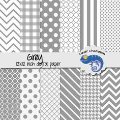 Background Paper Grey  12 inches x 12 inches - chevron, stripes, dots, quatrefoilYou will receive one zipped file containing the 12 printable digital papers. Download the zipped file from TPT, then double click or right click to extract the folder containing the files.DESCRIPTION:THIS IS A DIGITAL FILE 12 by 12 digital scrapbook papers 300 DPI .jpg files Personal and small commercial useUse these papers for making colorful labels, collages, title pages, banners, backgrounds and any other…