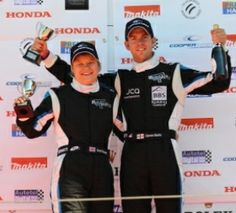 Sarah Reader on the podium at Imola