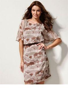 Flutter sleeve dress.