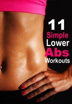 Very simple but effective lower abs workouts to lose pooch forever! (Videos)