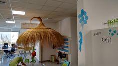 Sombrilla Mimbre / Sonnenschirm indoor Coworking Space, Wicker, Majorca, Handarbeit